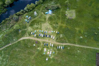 фото лагеря с коптера